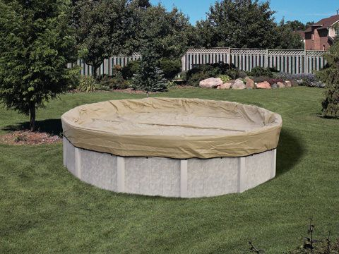 Above Ground Pool Winter Cover For 18 ft Round Pool 20 yr Warranty