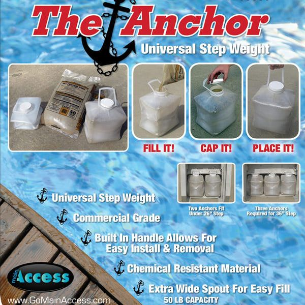 Main Access Universal Pool Step Anchor
