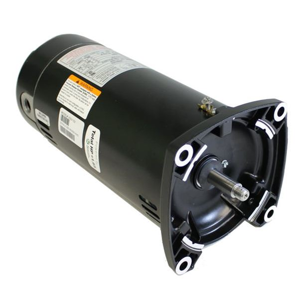 USQ1102 Pool Pump Motor 48Y Frame 1 HP Square Flange 115/230V