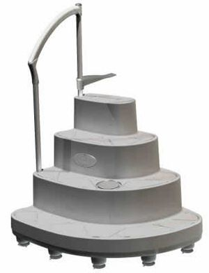 Majestic Above Ground Pool Wedding Cake Step - 8000