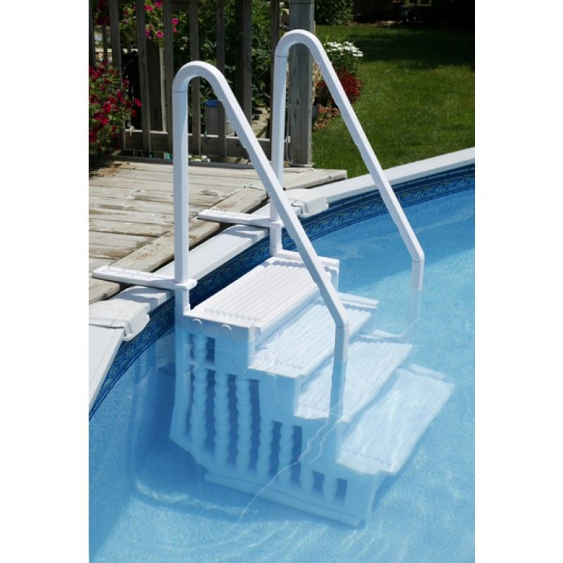 Blue Wave Easy Pool Step Above Ground Swimming Pool Steps On Sale At Your Pool Hq