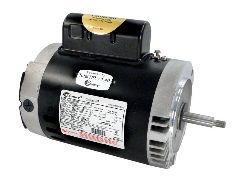 B128 Pool Pump Motor 56J Frame 1 HP C-Face 115/230V