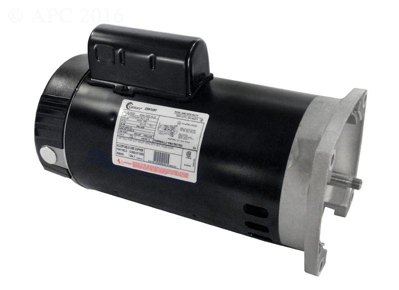 B2859 Pool Pump Motor 56Y Frame 2 HP Square Flange 115V/230V - Up Rate
