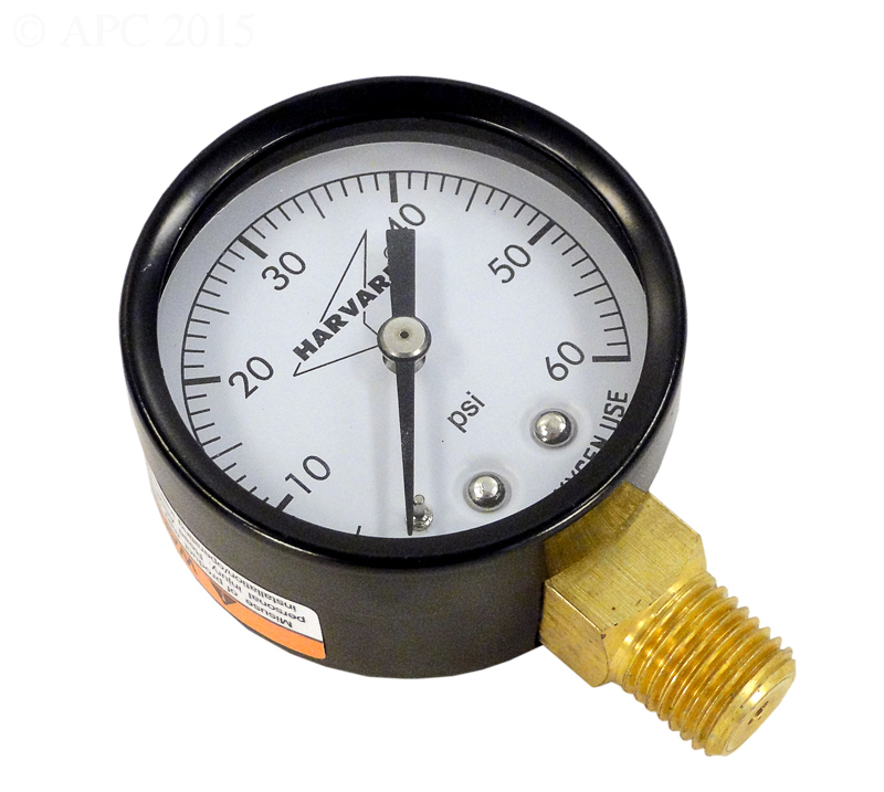 Pool Filter Pressure Gauge 0-60 PSI - Bottom Mount