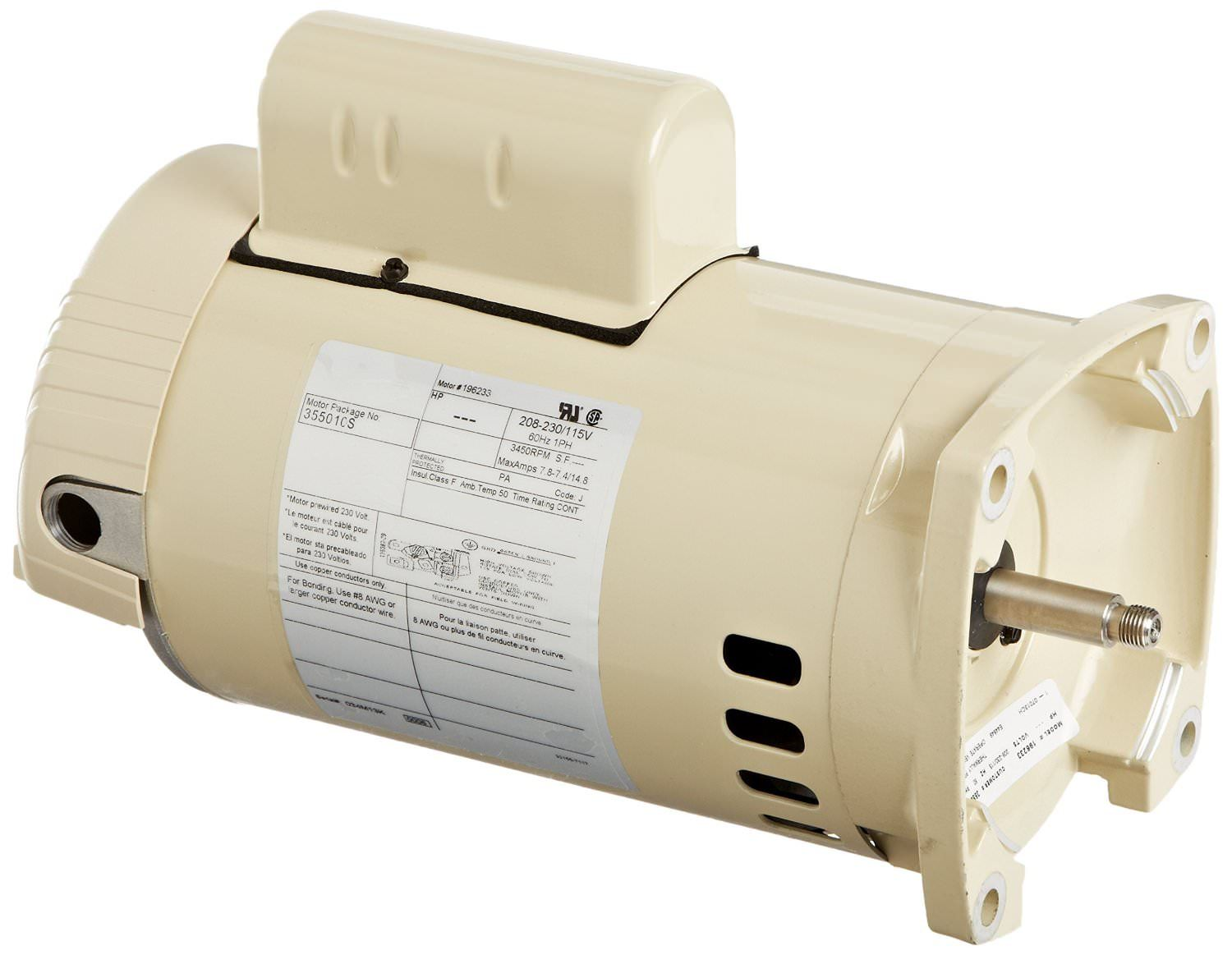 Pentair WhisperFlo 1 HP - 1.5 HP Motor 071314S / 355010S - 115/208-230V - Energy Efficient
