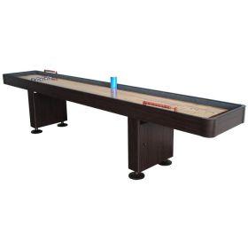 12 Foot Deluxe Shuffleboard Table - Walnut