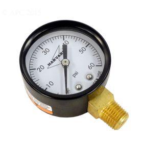 Pool Filter Pressure Gauge Bottom Mount 0-60 PSI