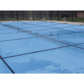 16 ft x 32 ft Light Weight Solid Pool Safety Cover w/ Center End Step - Blue - 20 yr Warranty