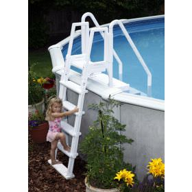 Blue Wave Easy Pool Step with Outside Ladder - NE126
