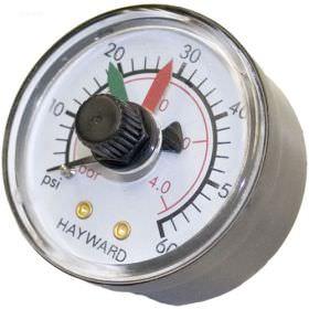Hayward ECX2712B1 Back Mount Pressure Gauge