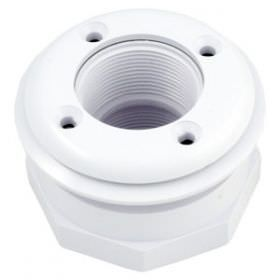 Hayward 1.5 Inch Inlet Fitting for Vinyl Liner, Fiberglass - White SP1408