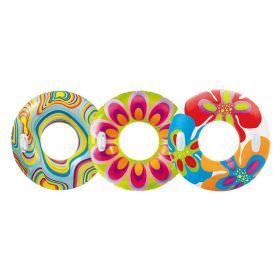 Intex Transparent Pattern Swim Tube with Handles