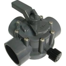 Jandy 3 Way 2 Inch x 2.5 Inch Positive Seal Gray Valve 2875