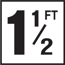 Pool 1-1/2 FT Depth Marker Non-Skid Ceramic Tiles - 6 In x 6 In