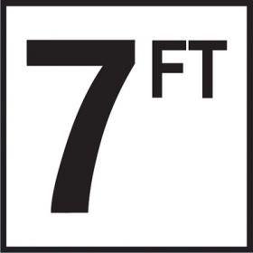 Pool 7 FT Depth Marker Non-Skid Ceramic Tiles - 6 In x 6 In