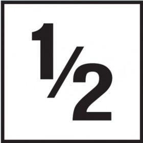 Pool Depth Marker - 1/2 - Non-Skid Ceramic Tile - 6 In x 6 In