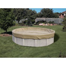 Tan Round Pool Winter Cover