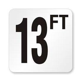 Pool 13 FT Depth Marker Vinyl Stick On 6 In x 6 In - Deck