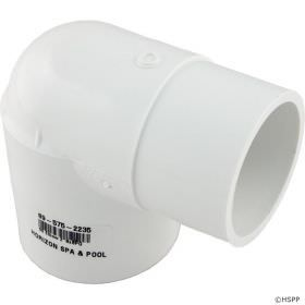 2 Inch Schedule 40 PVC 90 Degree Street Elbow - SPG x Slip