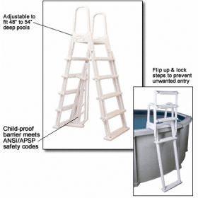 A-Frame Flip Up Ladder for Above Ground Pools