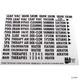 A&A Manufacturing 523186 Plumbing Labels