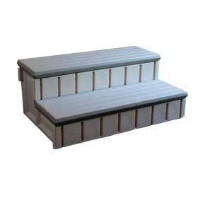 Gray Spa Step with Storage