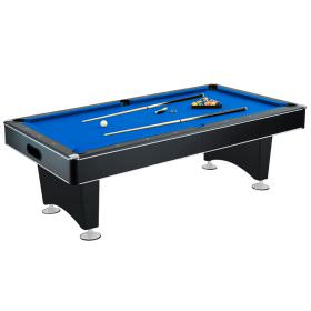 Hustler 8 Foot Blue Felt Pool Table