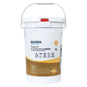 Kem-Tek Power 99 Individually Wrapped Chlorine Tablets - 50lb