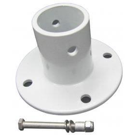 Perma-Cast PF-3119 White Aluminum Deck Flange - No Hardware 1.90