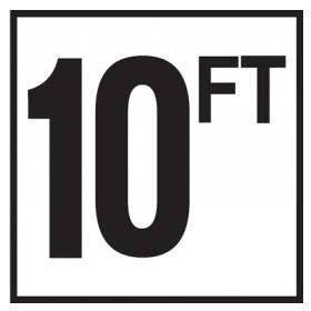 Pool 10 FT Depth Marker Non-Skid Ceramic Tile - 6 In x 6 In