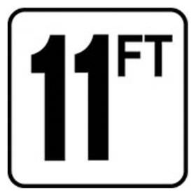 Pool 11 FT Depth Marker Vinyl Stick On 6 In x 6 In - Deck