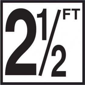 Pool 2-1/2 FT Depth Marker Non-Skid Ceramic Tiles - 6 In x 6 In