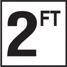Pool 2 FT Depth Marker Non-Skid Ceramic Tile - 6 In x 6 In