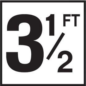 Pool 3-1/2 FT Depth Marker Non-Skid Ceramic Tile - 6 In x 6 In