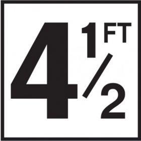 Pool 4-1/2 FT Depth Marker Non-Skid Ceramic Tiles - 6 In x 6 In