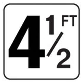Pool 4.5 FT Depth Marker Vinyl Stick On 6 In x 6 In