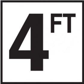 Pool 4 FT Depth Marker Non-Skid Ceramic Tile - 6 In x 6 In