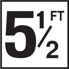 Pool 5-1/2 FT Depth Marker Non-Skid Ceramic Tiles - 6 In x 6 In