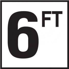 Pool 6 FT Depth Marker Non-Skid Ceramic Tile - 6 In x 6 In