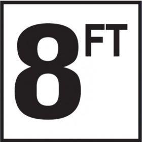 Pool 8 FT Depth Marker Non-Skid Ceramic Tiles - 6 In x 6 In