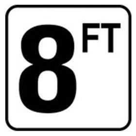Pool 8 FT Depth Marker Vinyl Stick On 6 In x 6 In