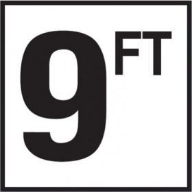 Pool 9 FT Depth Marker Non-Skid Ceramic Tile - 6 In x 6 In