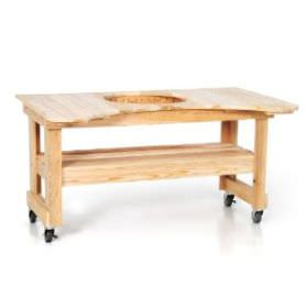 Primo Cypress Table for Kamado Round Grill