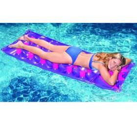 Swimline 76 Inch 18 Pocket Inflatable French Pool Mattress 9035