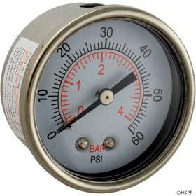 Waterway 830-4000SS Pressure Gauge
